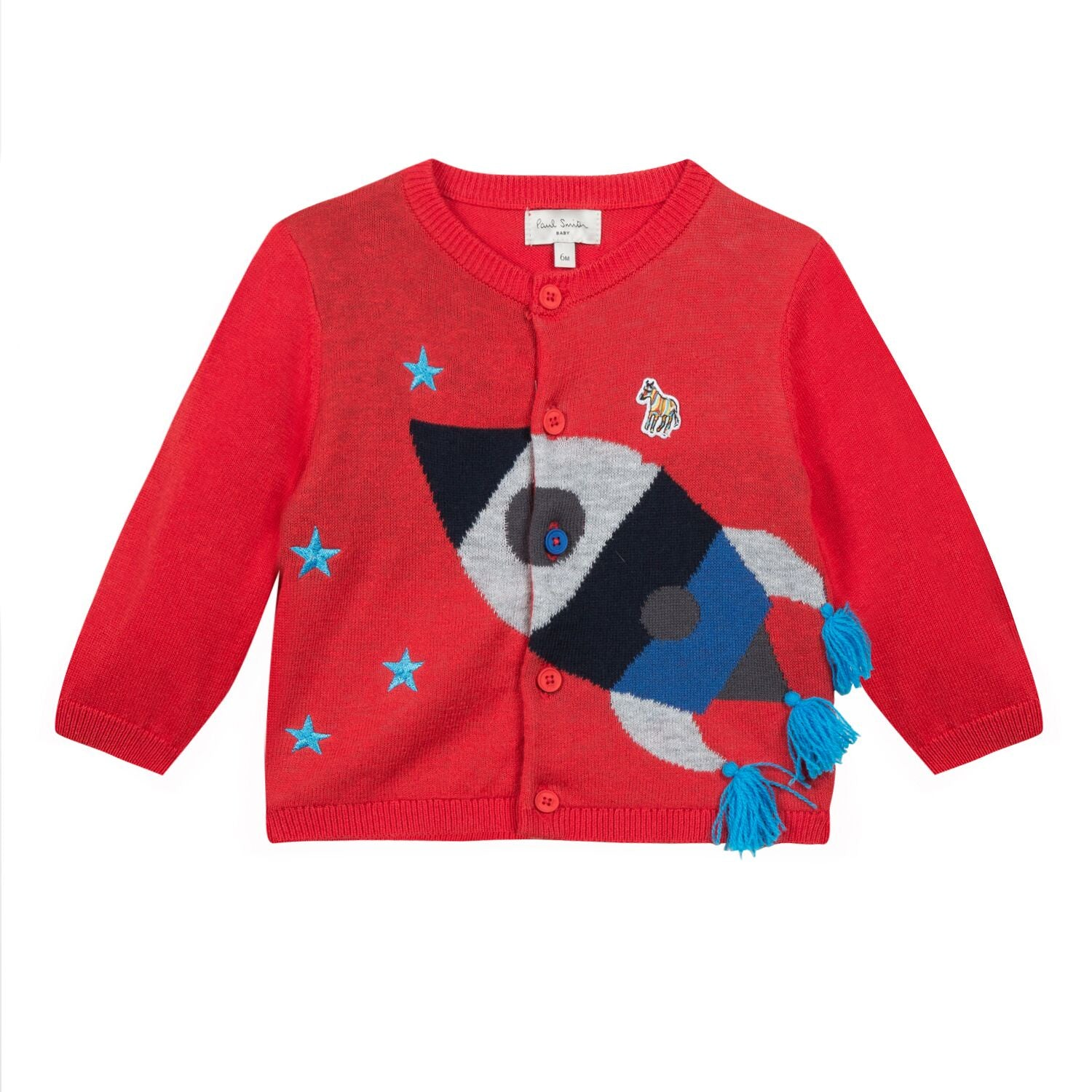 Paul Smith Baby Steve Rocket Red Cardigan