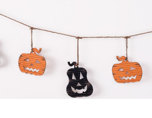 180° Pumpkin Garland, Metal, 76""