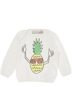 Stella McCartney Kids Horrace Jumper with Pineapple Print