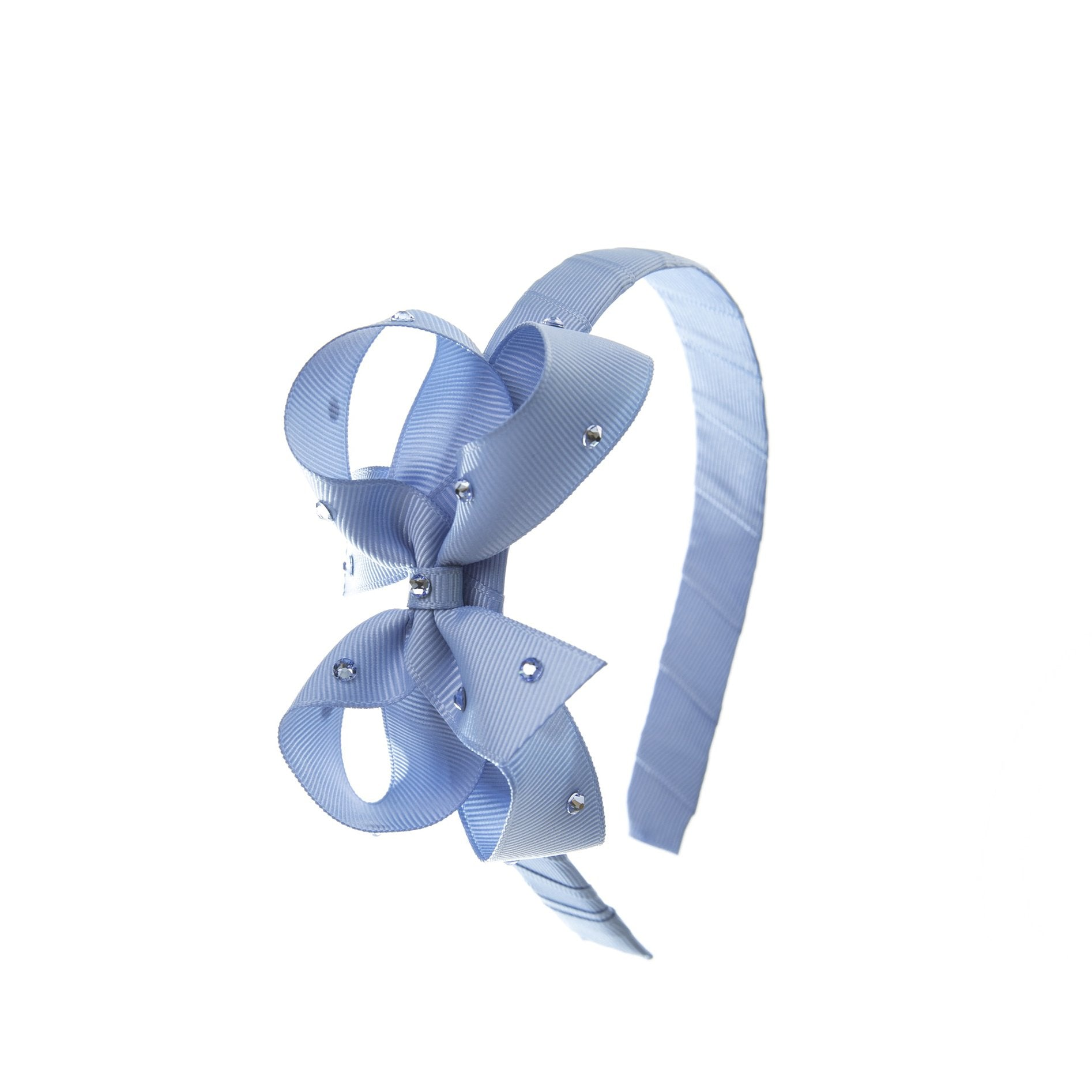 Olilia Designs Hard Hairband Classic Bow with Crystal