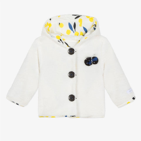 Catimini Blanc Graphic CIty Reversible Jacket