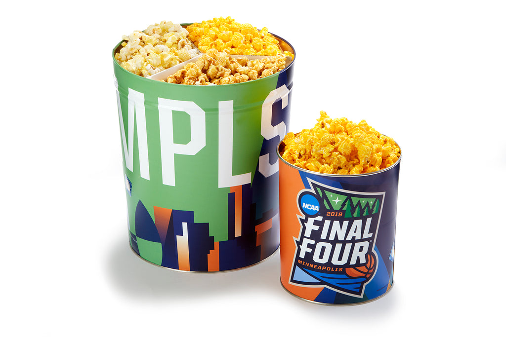 NCAA Final 4 tins available Exclusively at PoppedCorn