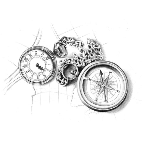 Chain Compass Watch