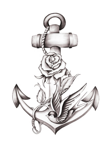Anchor, Rose, Sparrow