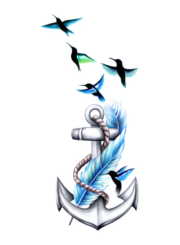 Blue Feather Anchor
