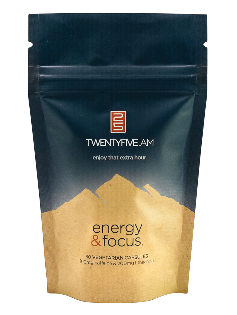TwentyFive :: Caffeine & L-Theanine for Energy & Focus - 60 Capsules