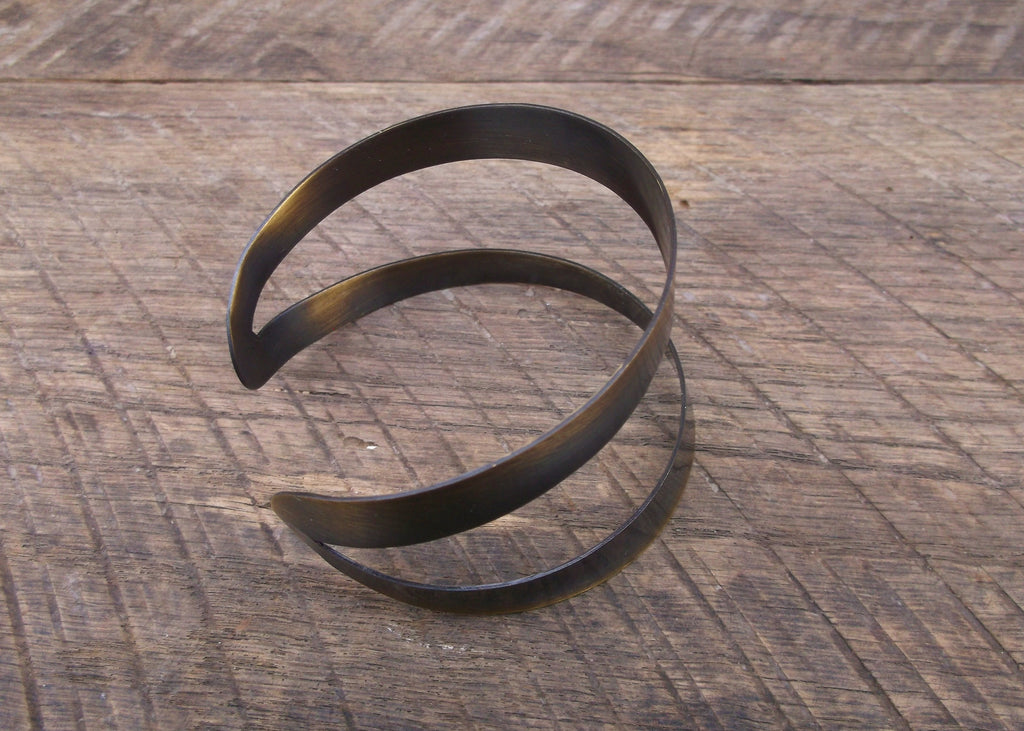Abstract Brass Cuff, India