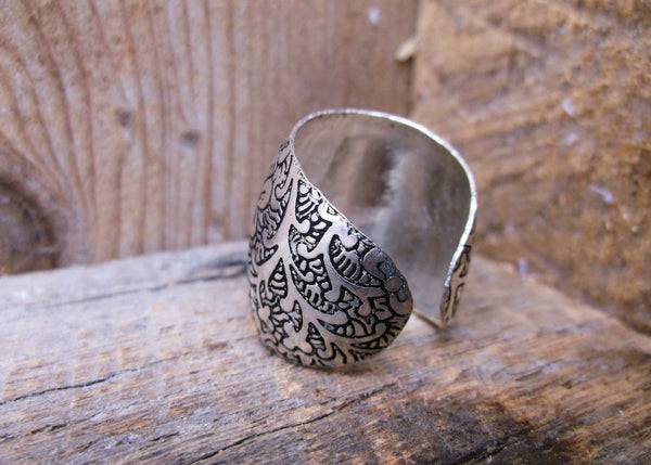 Metal Impressions Ring, India