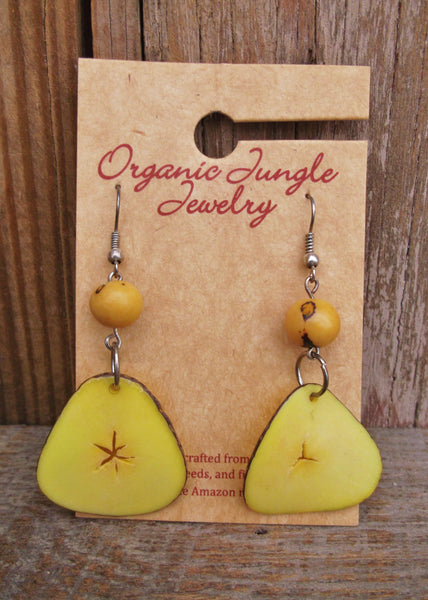 Tagua Nut Earrings, Peru