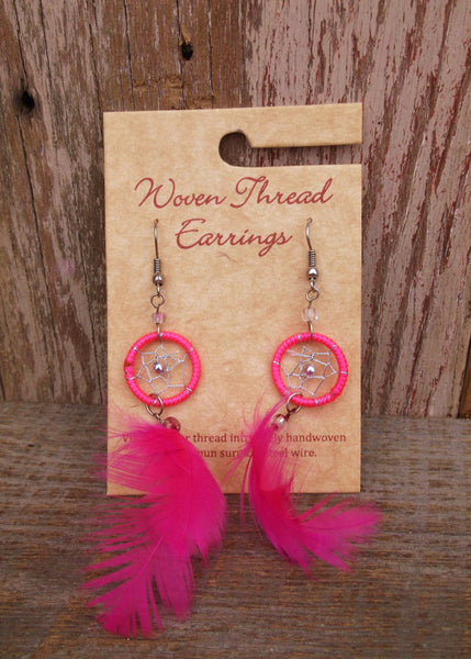 Dreamcatcher Feather Earrings, Peru