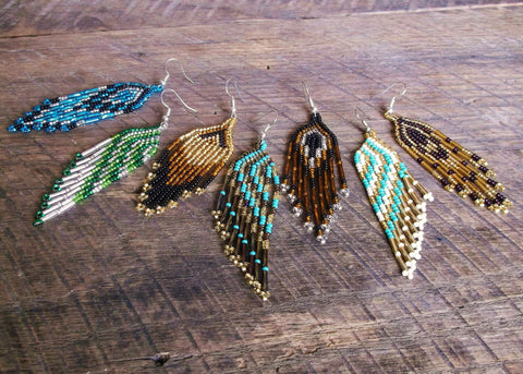 Beaded Earrings, Guatemala