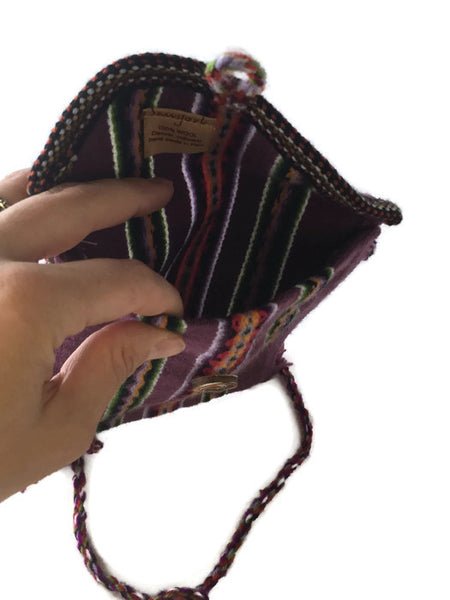 Huallhuas Wool Shoulder Bag, Peru