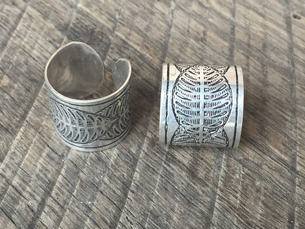 Silver Feather Ring, India