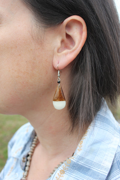 Geometric Bone Earrings, Uganda