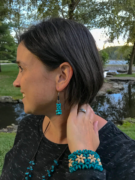 Turquoise Multi Bead Earrings, Thailand