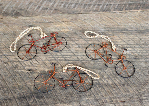 Wire Bicycle Ornament, Kenya