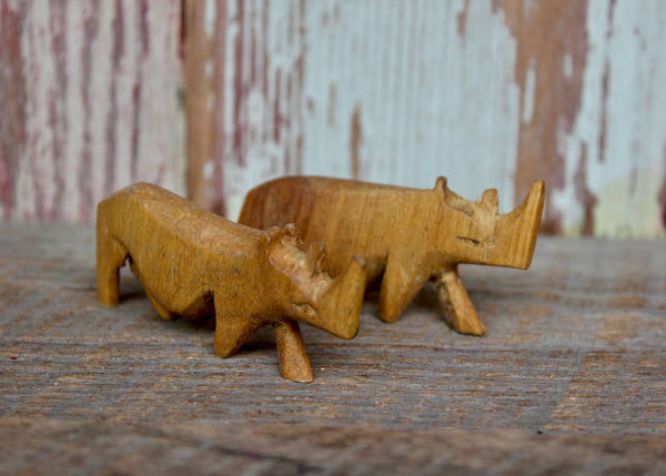 Hand Carved Miniature Safari Animals, Kenya