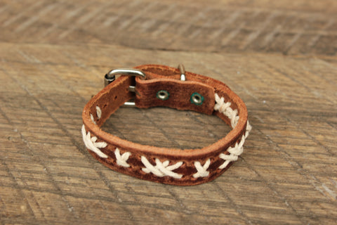 Leather Buckle Bracelet, Swaziland