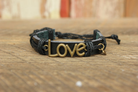 Leather LOVE Bracelet, Swaziland