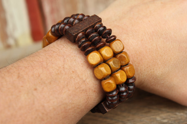 Wooden Stretch Bracelets, Belize