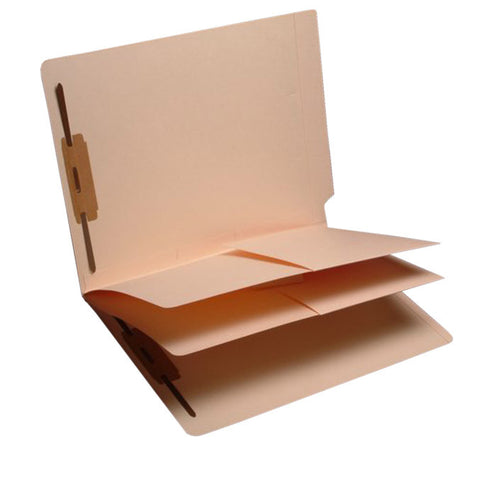Letter Size Box of 25 11 Pt 2 Dividers Installed Full Cut End Tab Manila Folders