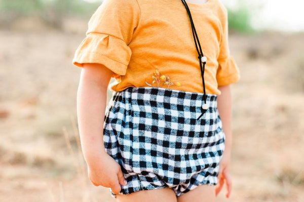Flannel High-Wasited Bloomers | Gingham