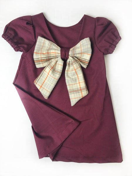 Bonnie | Bow-Back Dress Wine