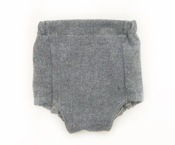 Flannel High-Waisted Bloomers | Herringbone Steel