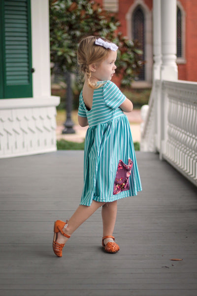 floral-swing-dress-for-girls