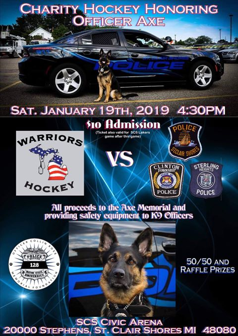 The K9 Axe Memorial Hockey Game