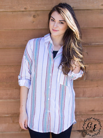 Bridgette's Button Down Aztec Shirt