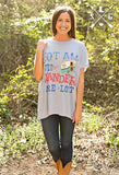 Adults Not All Who Wander Are Lost Short Sleeve Tunic