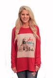 Love Christmas With My Tribe on Red Sweater Tunic