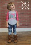 Kids House Party Raglan with Shimmery Lace Sleeves
