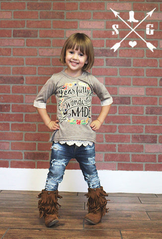 Kids Fearfully and Wonderfully Made Grey