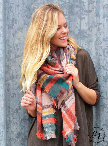 Into the Forest Plaid Blanket Scarf
