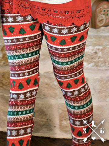 Women's Christmas Snowflakes Leggings