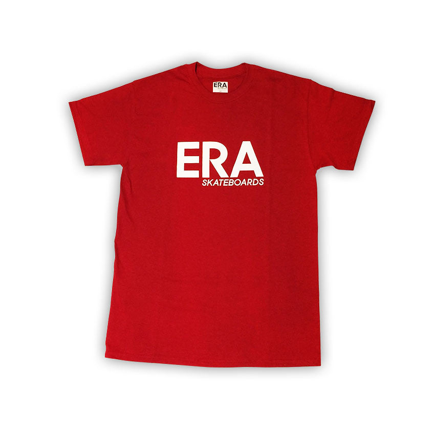 ERA SKATEBOARDS RED TEE