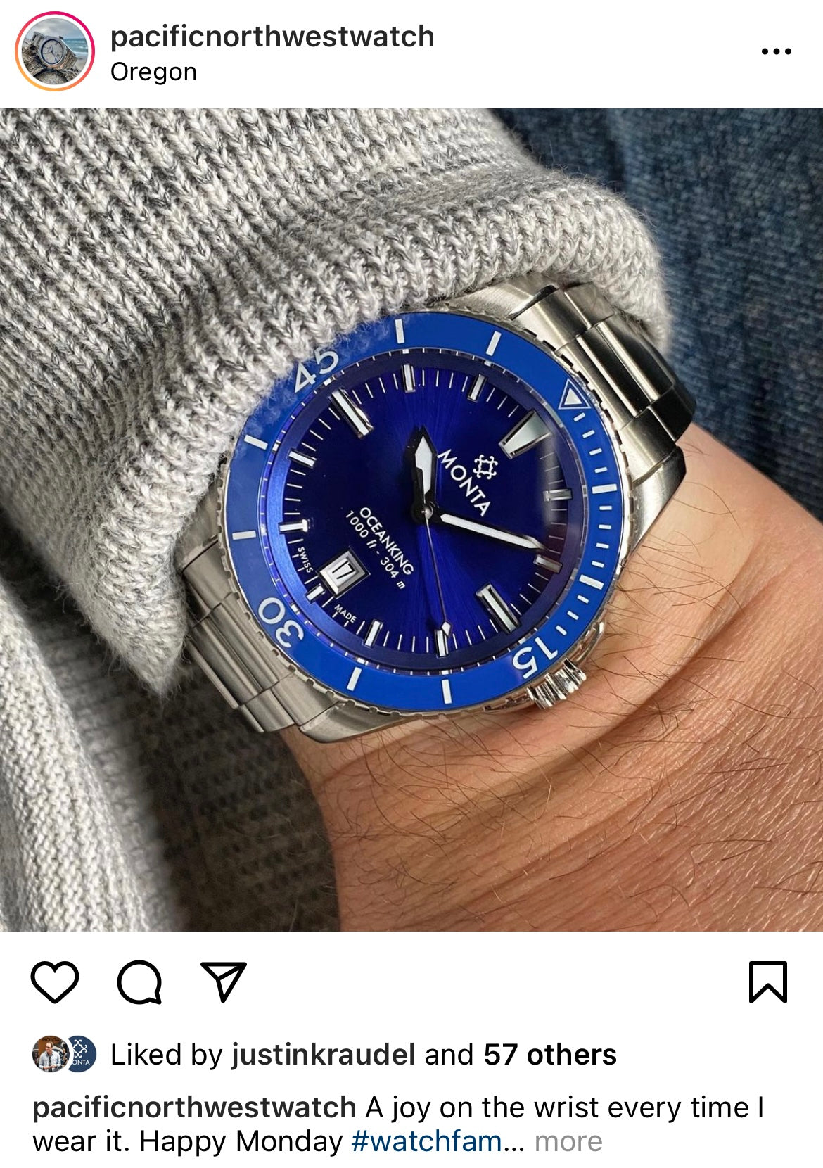monta watch owners instagram account
