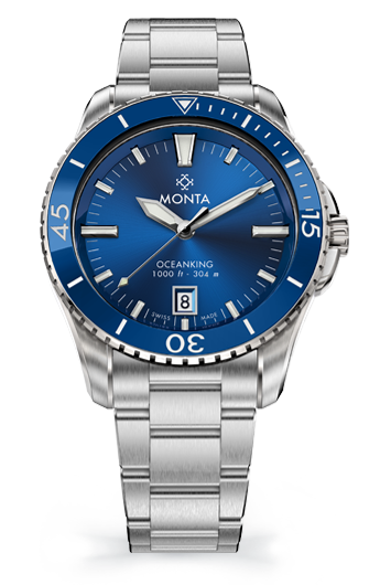 Monta Oceanking, 60-Minute Bezel, with Date, Blue Dial, Ceramic Bezel