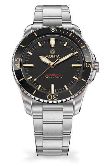 Monta Oceanking, Time-Only, Gilt Dial