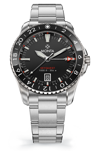 Monta Skyquest, Black Dial, Ceramic Bezel