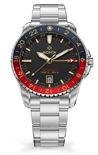 Monta Skyquest, Gilt Dial, Ceramic Bezel