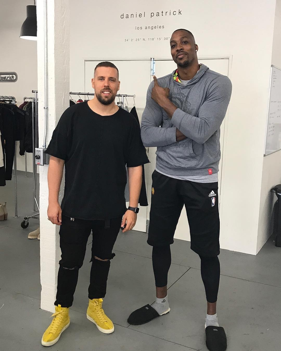 Atlanta Hawks center Dwight Howard with Daniel Patrick in Los Angeles, June 2017