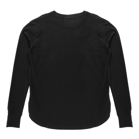 LS Curved Hem T-Shirt <br> Pirate Black