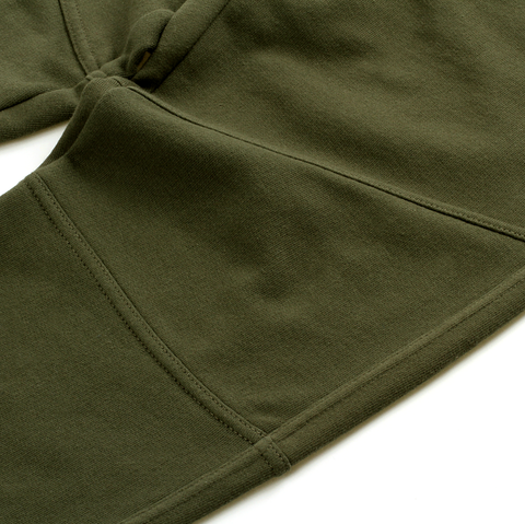 Slim Fit Sweat Pants <br> Olive Green