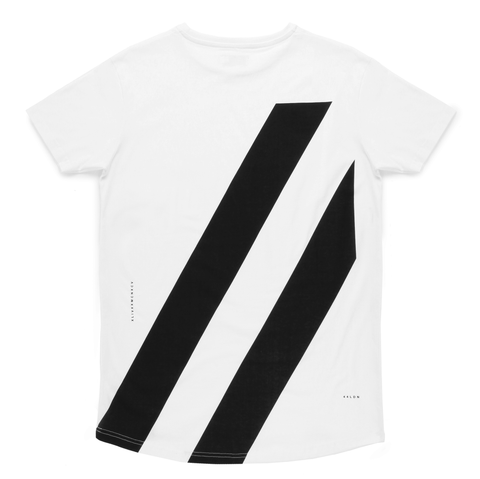 44LDN 'Stripes' T-Shirt <br> White