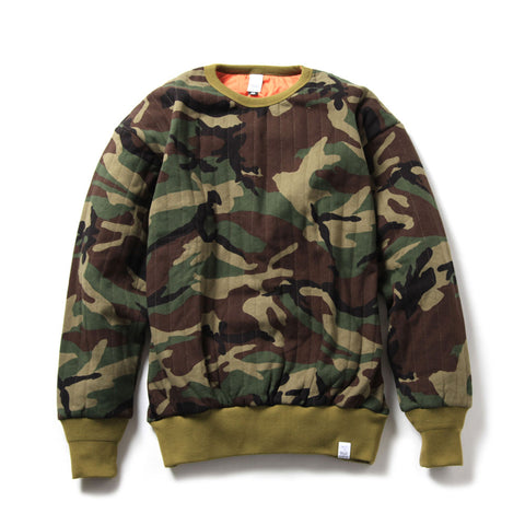 Quilted Mil Crew Sweat