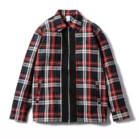 Plaid Zip Shirt Jacket