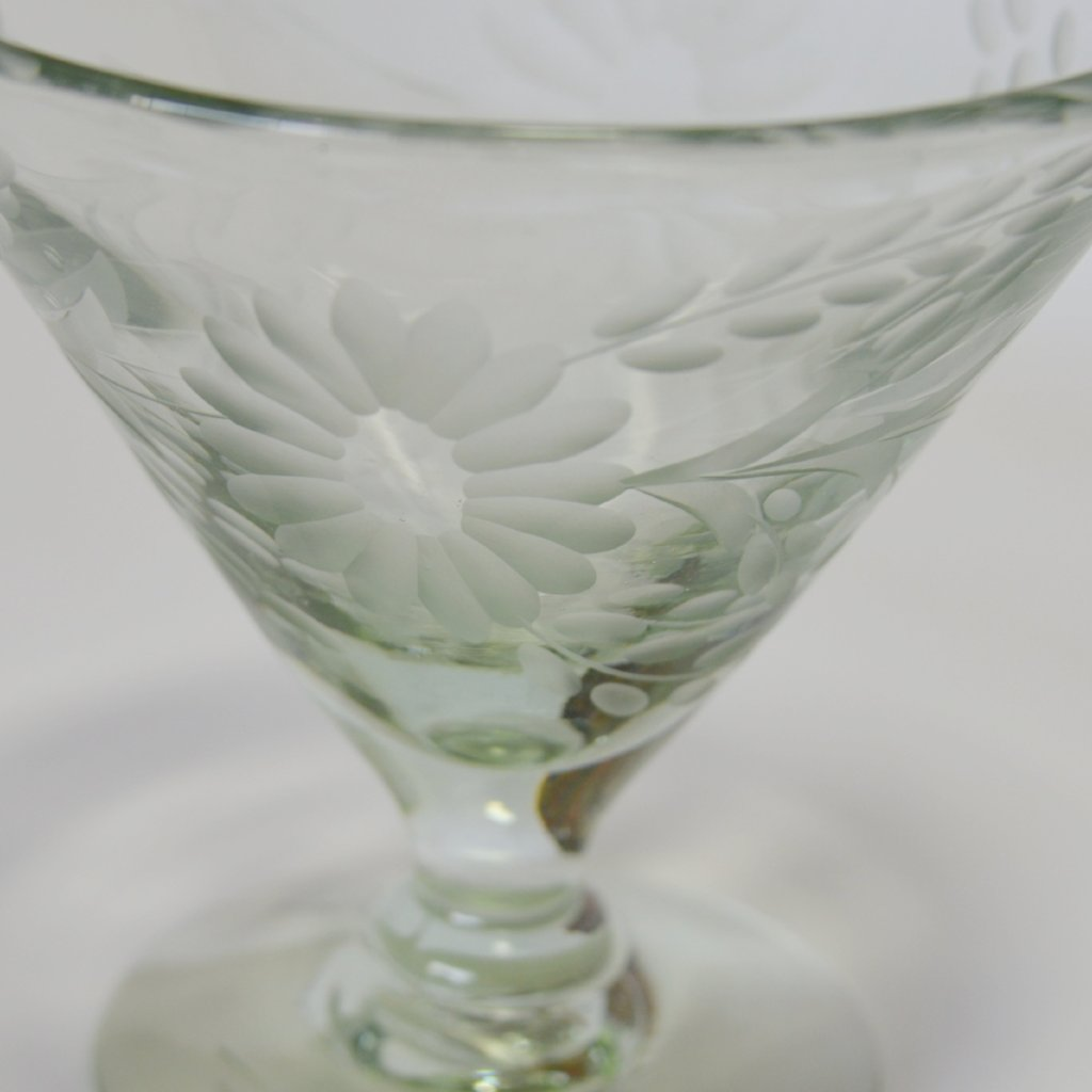 Hand Blown and Etched Glass - Mexican Margarita Glass